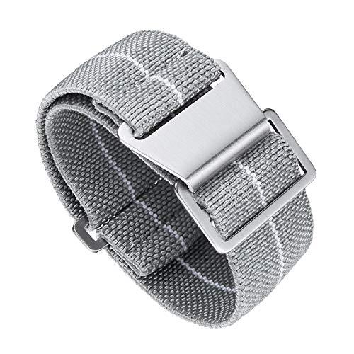 Binlun Elastic NATO Fabric Nylon Watch Band Impermeable Reemplazo Hook-and-Loop Correa para Reloj 18/20/22mm