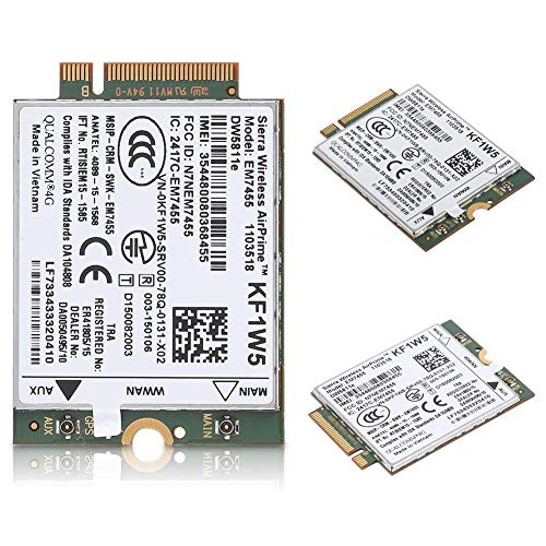 awstroe Wireless Card Module Replacement Wireless EM7455 for Dell DW5811e for Qualcomm 4G LTE WWAN NGFF Card Module