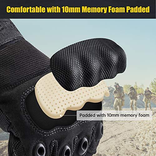 [Sport Handschuhe] FREETOO Motorrad Handschuhe Herren Vollfinger Army Gloves Ideal für Airsoft, Militär,Paintball,Airsoft, lebenslange Garantie - 3