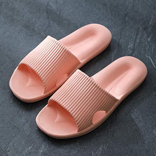 Nwarmsouth Zapatillas de casa de Fondo Suave,Sandalias de Masaje para el hogar, Zapatillas de baño para baño-Pink_40-41,Zapatos de Playa y Piscina