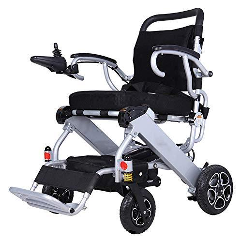 FTFTO Inicio Accesorios Ancianos Discapacitados Portátil de Aluminio de Cuatro Ruedas Old Man Scooter Luz Plegable Silla de Ruedas eléctrica Inteligente para discapacitados