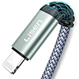 MFi Certified iPhone Charger Cable (6.6ft), [Never Rupture] LISEN Lightning Cable 2.4A Fast Charging iPhone Cord Compatible with iPhone 11 Pro/Xs Max/XR/XS/X/8/8 Plus/7/6/6 Plus/SE/5/5S