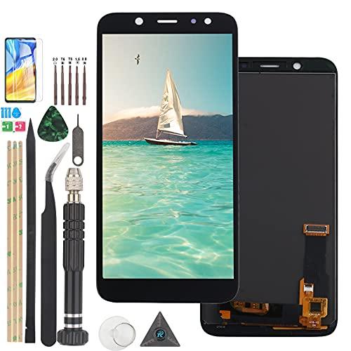 RongZy Pantalla para Samsung Galaxy A6 2018 A600 A600F A600FN Pantalla Táctil LCD Kit de Pantalla de Repuesto Ensamblaje Digitalizador de Reemplazo con Herramientas(Negro)