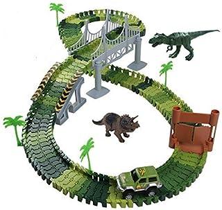 Nuheby Circuit Dinosaure Voiture Flexible Circuit de Voiture Jeu Educatif Creation Enfant pour Cadeau Enfant Garcon Fille ...
