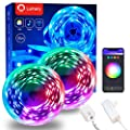 LED Strip Lights 32.8FT, Lumary Smart LED Strip Lights for Bedroom, Hue Party Wall Lights Music Sync Color Changing Works with Alexa and Google Assistant, RGB Neon Lights for Kitchen, Home, TV