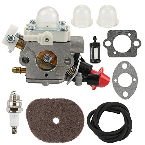 Butom C1M-S267A Carburetor with Air Filter Repower Kit for Stihl FS40 FS50 FS50C FS70 FS70C FS56 FC56 HT56 HT56C KN56 KN56RC KM56 KM56C Trimmer 4144 120 0603
