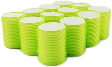 NAVAdeal 12pcs Sleep In Hook & Loop Hair Cling Roller Sponge Foam Hair Curling Tools Volume Add Large 48mm L Size (Color May Vary)