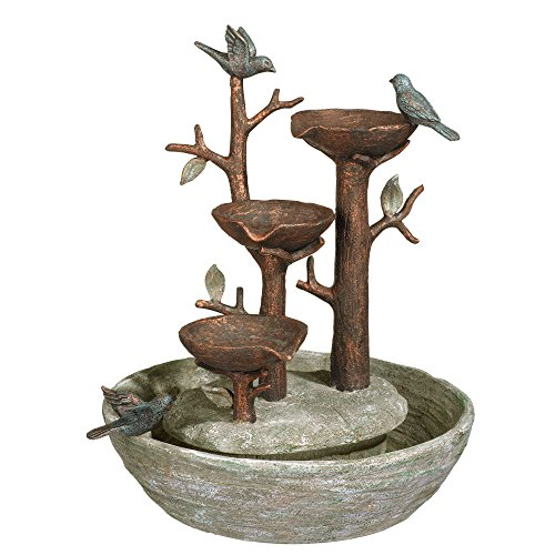 Grasslands Road 464246, Multicolor Bird Nest Cement Fountain, 12'/Medium