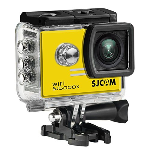 16GB TF Card+SJCAM SJ5000X Elite Sports Action Camera Ultra-HD 2.0 Inch LTPS WiFi 4K 24fps Sport DV 2.0 LCD NTK96660 Diving 30m Waterproof Action Camera+1pcs battery charger+1pcs Extra Battery(Yellow)
