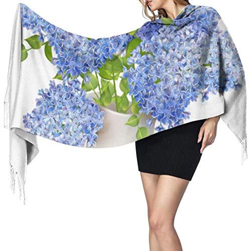 Schone schoonheid vaas romantische bloemen sjaal dames kasjmier sjaal vrouwen lichte sjaal grote zachte Pashmina extra warm