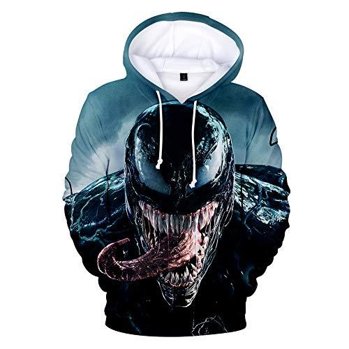 Venom Niños Sudaderas con Capucha Cool Pullover para Niños Niñas Adolescente Camiseta de Manga Larga (5,140)
