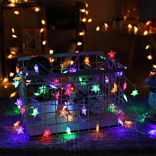 USB Battery Star LED String Light Christmas Outdoor Fairy Lights Party Wedding Decoration Battery Multicolor 2m10 LEDs