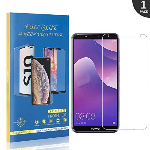 Generic 1 Stück LAFCH Schutzfolie für Huawei Y7 2018 / Huawei Honor 7C, Blasenfrei Folie Panzerglas, Kratzfest Hohe-Auflösung Displayschutzfolie