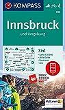KOMPASS Wanderkarte Innsbruck und Umgebung: 3in1 Wanderkarte 1:35000 mit Aktiv Guide und Panorama inklusive Karte zur offline Verwendung in der ... Skitouren. (KOMPASS-Wanderkarten, Band 36) - KOMPASS-Karten GmbH