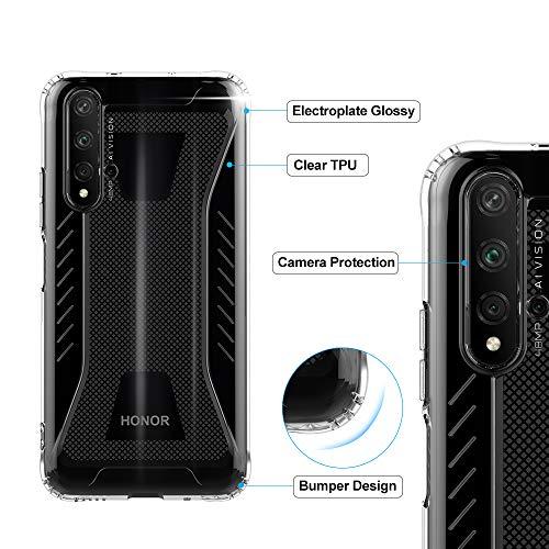 CRESEE für Huawei Nova 5T / Honor 20 Hülle Case, Schutzhülle Transparente Dünn Weich Silikon Cover Bumper Stoßfest Handyhülle Fall für Huawei Nova 5T/ Honor 20 (Transparent) - 6