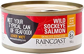 Raincoast Trading Wild Skinless Boneless Sockeye Salmon, 5.3 Ounce - 12 per case.
