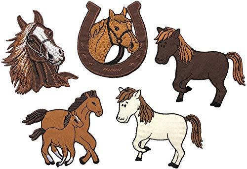 i-Patch - Patches - 0152 - Pferd - Pony - Einhorn - Fohlen - Pferdekopf - Pferde - Hufeisen - Reiten - Applikation - Aufbügler - Aufnäher - Sticker - zum aufbügeln - Flicken - Bügelbild - Badges