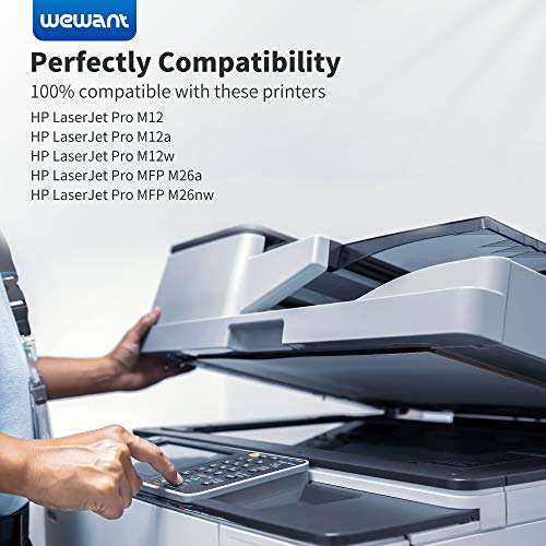 Wewant Toner CF279A 79A Reemplazo para HP 79A CF279A Cartucho de Tóner Compatible con HP LaserJet Pro M12 M12a M12w HP LaserJet Pro MFP M26a MFP M26nw, 2 Negro