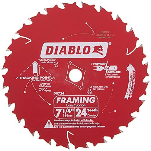 Diablo D0724X Framing Saw Blade, Multi