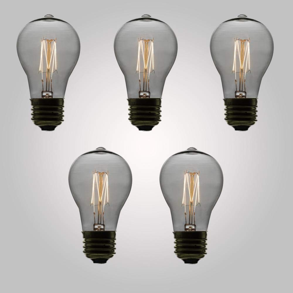 Quad-Loop Filament Fantado 25-Watt Incandescent A19 Vintage Edison Light Bulb E26 Base by PaperLanternStore