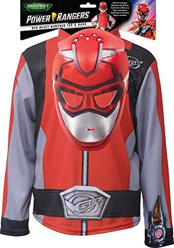 Rubies - Power Rangers para disfraz, nio, unisex, I-300672, rojo
