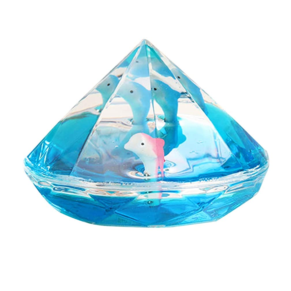 Vosarea Liquid Motion Bubbler Timer Oil Hourglass Liquid Timer Desk Toy Birthday Gift for Children Kids (Random Color)