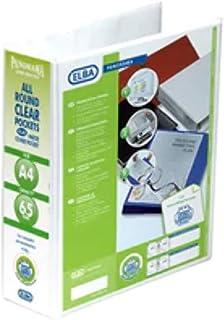 Elba, Presentation A4 Lever Arch Files, White, Plastic, 5 Folders