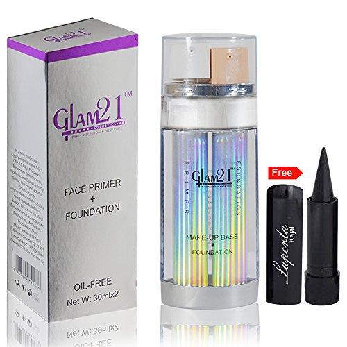 Glam 21 Honey Beige Face Primer & Foundation Free Kajal-01
