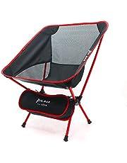 Pio.man campingstoel, tuinstoel, klapstoel, ultralichte visstoel, 150 kg draagvermogen, compacte draagbare stoel met draagtas voor outdoor-activiteiten, camping, barbecue, strand, wandelen en meer