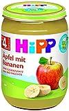 HiPP Bio FrŸchte €pfel mit Bananen, 6er Pack (6 x 190 g)