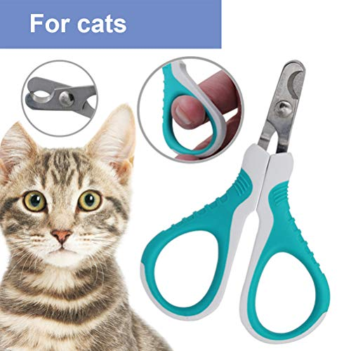 Maufy Katzen-Nagelknipser Edelstahl-Haustier-Nagelschneider Professionelle Haustier-Klauenschere Professionelle Katzen-Nagelknipser Geeignet für Katzen und Kleintiere