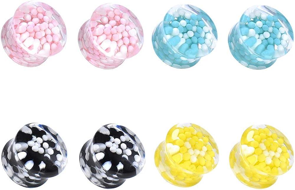Jboyanpei Colorful Oakland Mall Cute Ball Acrylic Gauges Ear Plugs St SALENEW very popular Tunnels