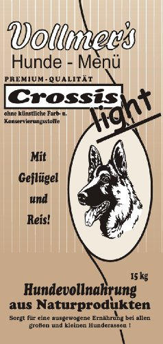 Vollmer's 37027 Hundefutter Crossis Light 15 kg