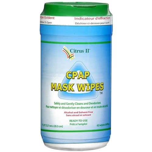 Citrus Ii Cpap Mask Cleaning Wipes ,Clean and Maintain 62 Ea(2 Pack)