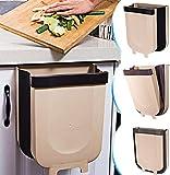 YUKE Cubos de Basura Plegable Bote de Basura Colgante Basurero Plegable Basura Extraible para la Cocina, Dormitorio y Coche, 9L