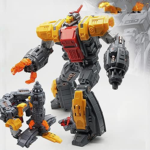 QWYU Transformación G1 Mf-34 Omega enorme dragón perdido planeta accionado traje defensivo fortaleza base figura de acción robot
