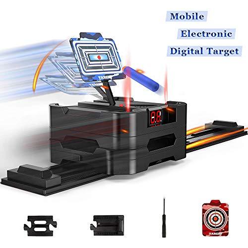 yidenguk Objetivo Digital Electrónico para Nerf, Objetivos de Puntuación Móvil con Restablecimiento Automático Efectos Inteligentes de Sonido y Luz para Nerf Guns Blaster Elite/Mega/Rival Series