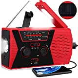 RegeMoudal Emergency Solar Hand Crank Portable Radio, NOAA Weather Radio for Household