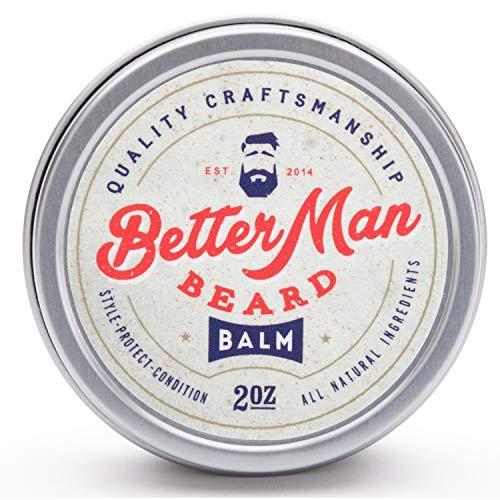 Better Man Beard Balm - 2 oz All-Natural Moisturizing Balm with Therapeutic Grade Essential Oils & 100% Natural Formula - Balm-01