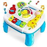 HERSITY Mesa de Actividades Juguetes Musicales Regalos para Bebés Educación Temprana Infantil Juegos para Niños 18 Meses