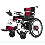 JY Silla de ruedas eléctrica plegable de doble función ligera (batería de iones de litio), conducir con energía eléctrica o usar como silla de ruedas manual gj