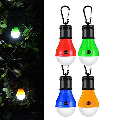 Tienda de campaña Luces Farol de Camping,Linterna led Portátiles LED Lampara de Camping (Paquete 4),Adecuado para Camping,Luz de Emergencia,Pesca,Senderismo,Mochilero,Exterior e Interior