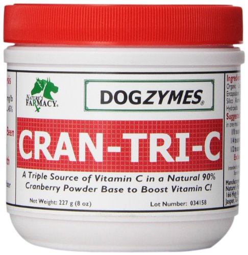 DOGZYMES Cran-Tri-C Health Supplement for Dogs, 8-Ounce