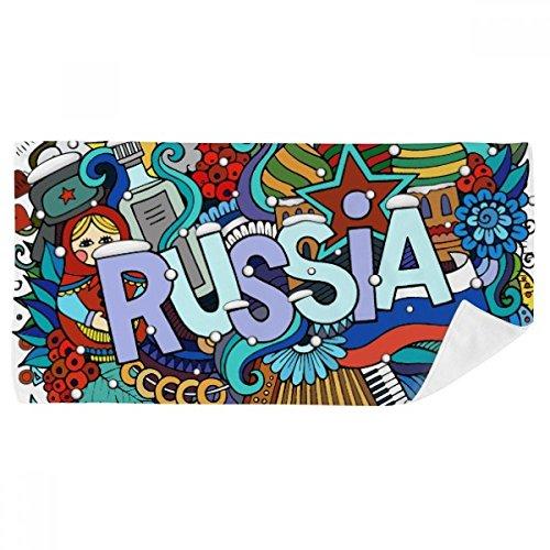 DIYthinker Russie Hiver Accordéon Casino Illustration Serviette de Bain Doux Gant de Toilette Gant de Toilette 35X70Cm 35 x 70cm Multicolor