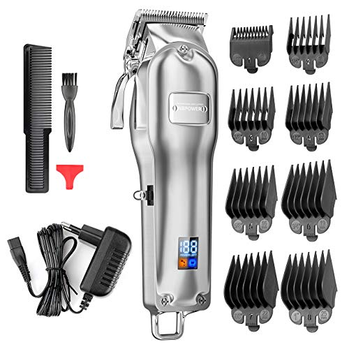 Haarschneidemaschine,NBPOWER Profi Haarschneider Herren Bart Trimmer Haartrimmer Langhaarschneider mit LED-Anzeige und wiederaufladbarer -langlebige Wireless Leise