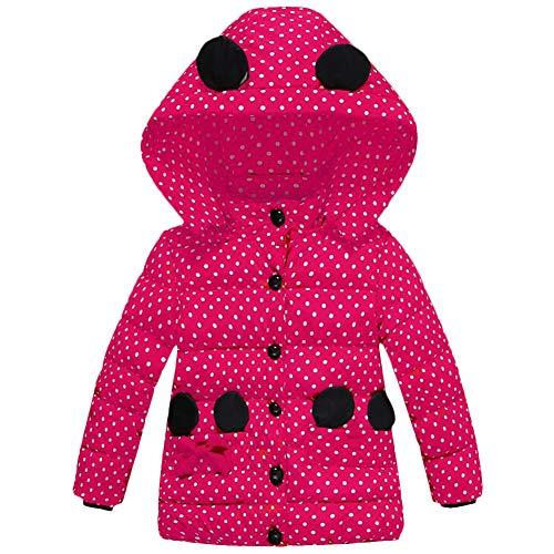 Bebé Niña Niña Otoño Invierno Caliente Traje De Nieve Lunares Gruesa Abrigo Abrigo Abrigo Abrigo De Dibujos Animados Minnie Moda Acolchado Ratón Oreja Capucha Capucha Capucha Ropa De Niños