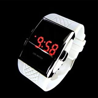 Niome Men's Fashion LED Digital Date Sports Quartz Waterproof Wrist Watch PU Band