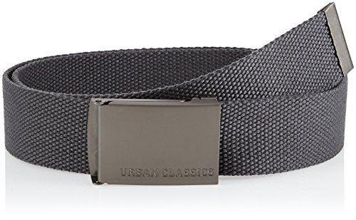 Urban Classics Gürtel Canvas Belt Unisex, Charcoal, one Size