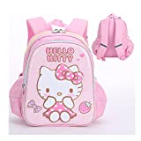 N \ A Hello Kitty 12' Backpack Back to School Girls with Bottle Holders Pink