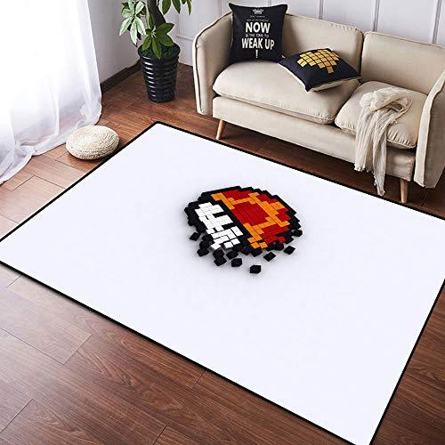Coobal Super Mar-io Odyssey - Alfombra grande para suelo de yoga, alfombra para niños (90 x 150 cm)